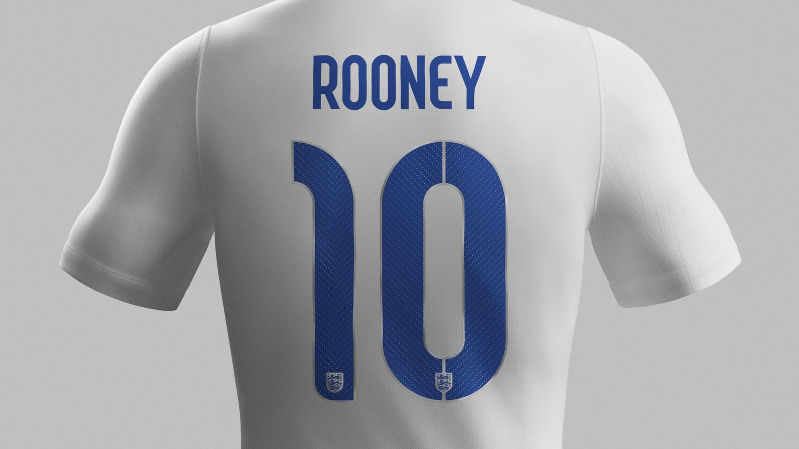 England home shirt (back)