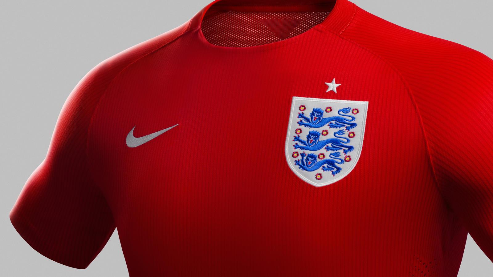 England away shirt (collar)