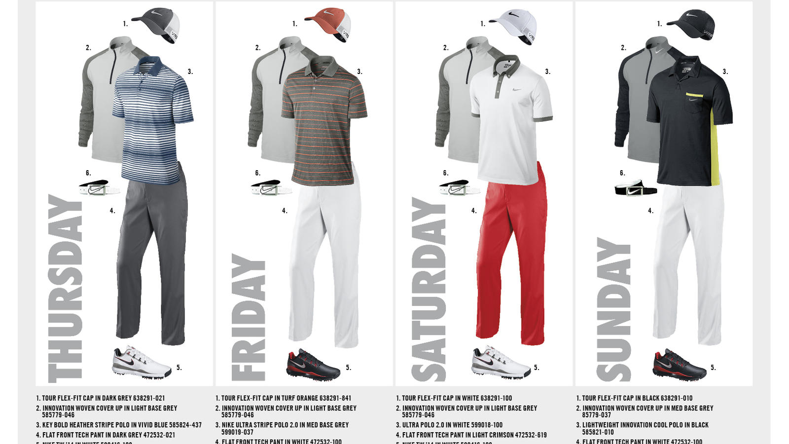 06736e646ef Nike Golf Reveals Athlete Looks for First Major Championship of 2014 ...