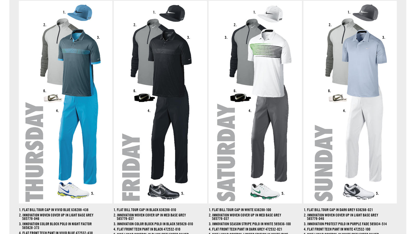 ba5ed2de Nike Golf Reveals Athlete Looks for First Major Championship of 2014 ...