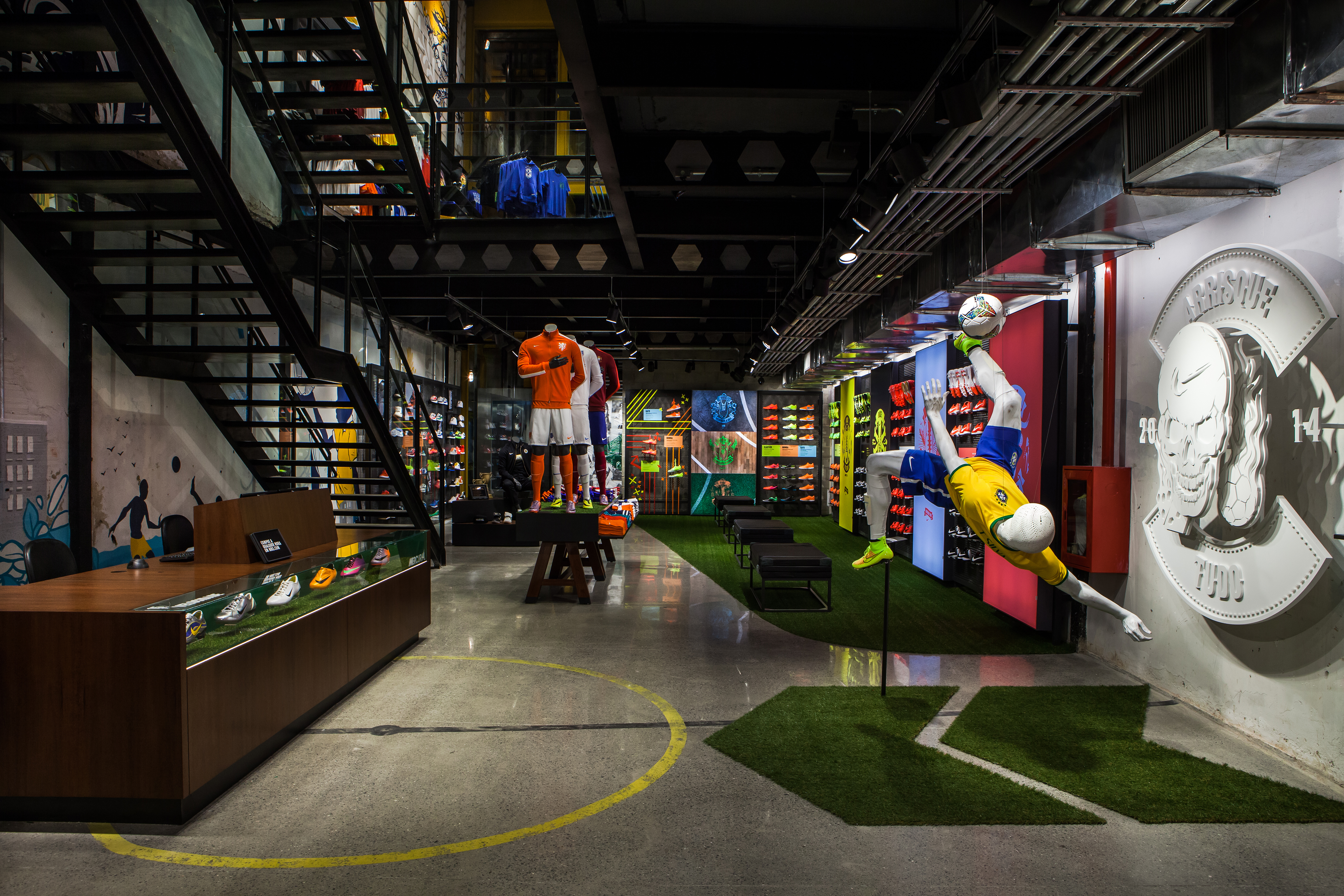LO HI Nike Opens First Football Only Store In Brasil