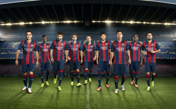 Nike and FC Barcelona Unveil New Home Kit for 2014-15 Season