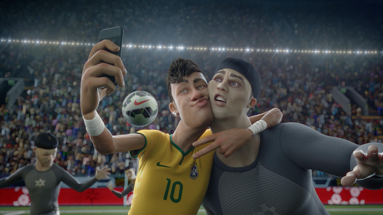 Neymar 'selfie' with Clone Ronaldo in Nike Football's The Last Game