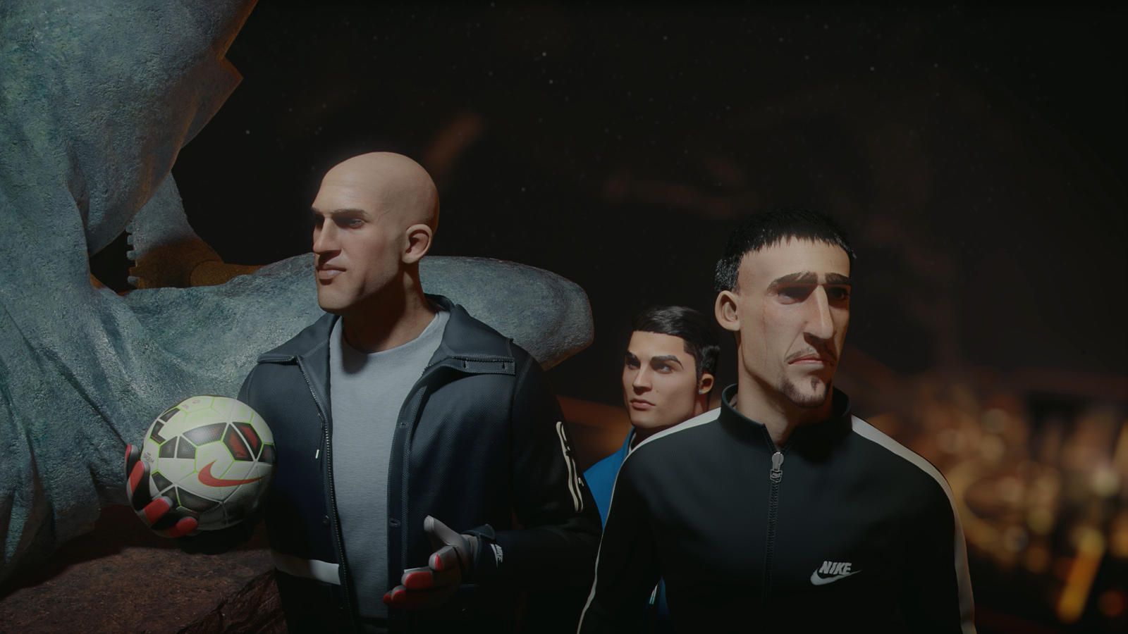 Tim Howard, Franck Ribery & Cristiano Ronaldo in Nike Football's The Last Game