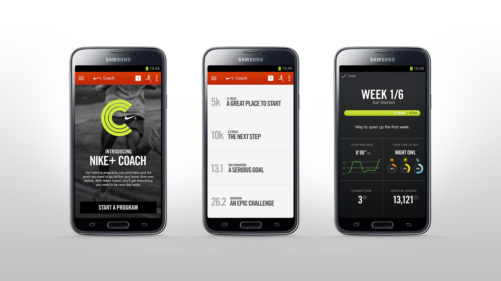 Nike+ Coach Feature on Android
