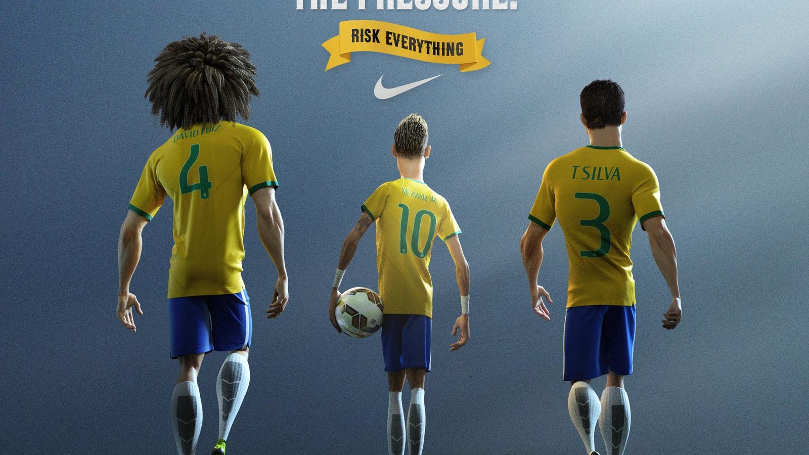 David Luiz, Neymar Jr. & Thiago Silva
