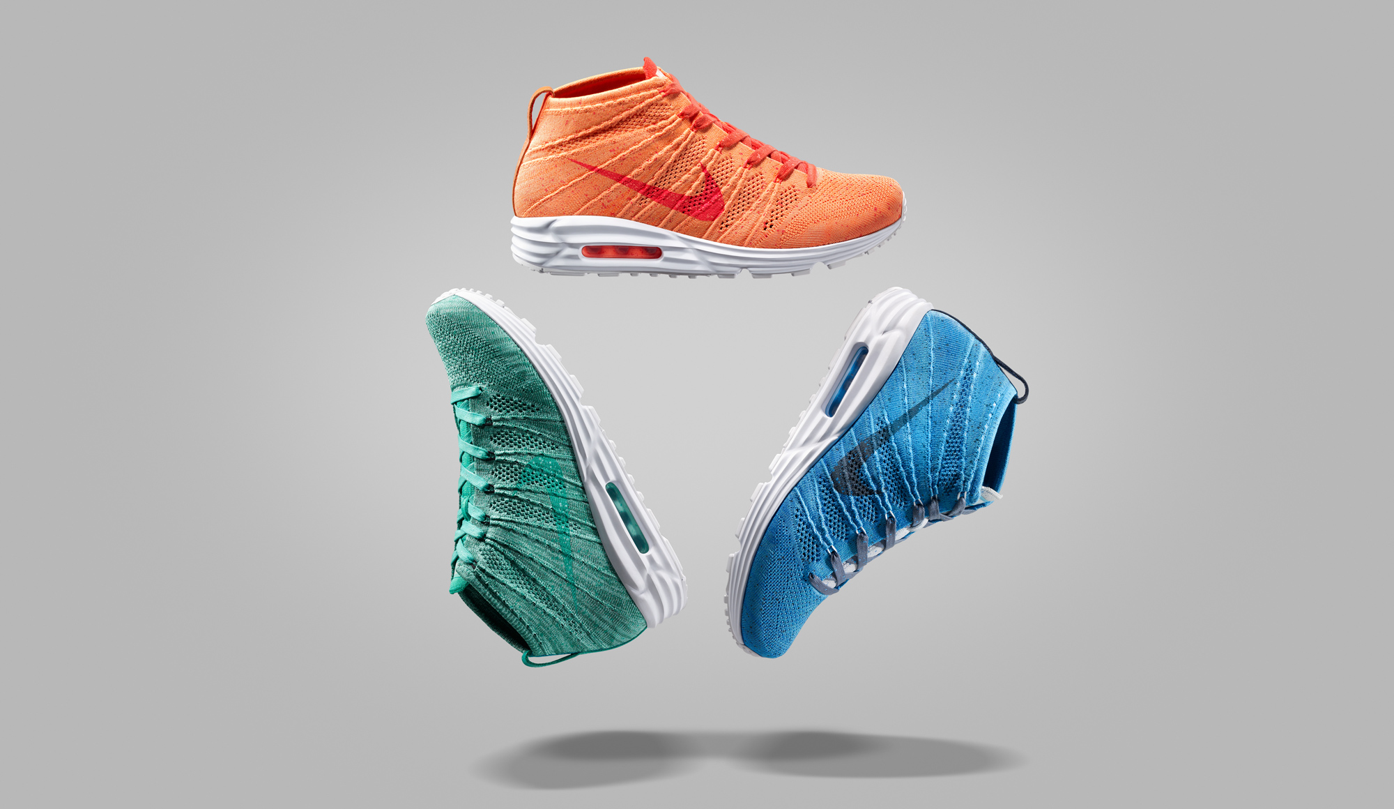 Nike Flyknit Air Max Black/Chlorine Blue Total Orange White