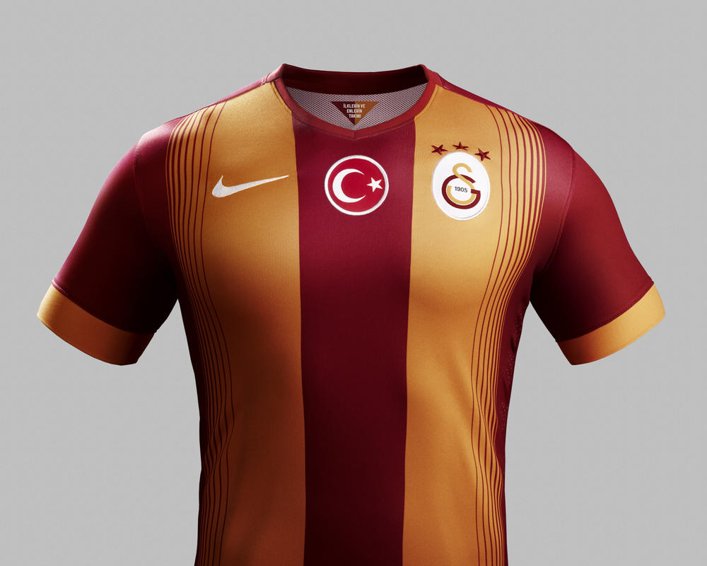 Galatasaray and Nike Unveil New Kit for 2014-15 Season