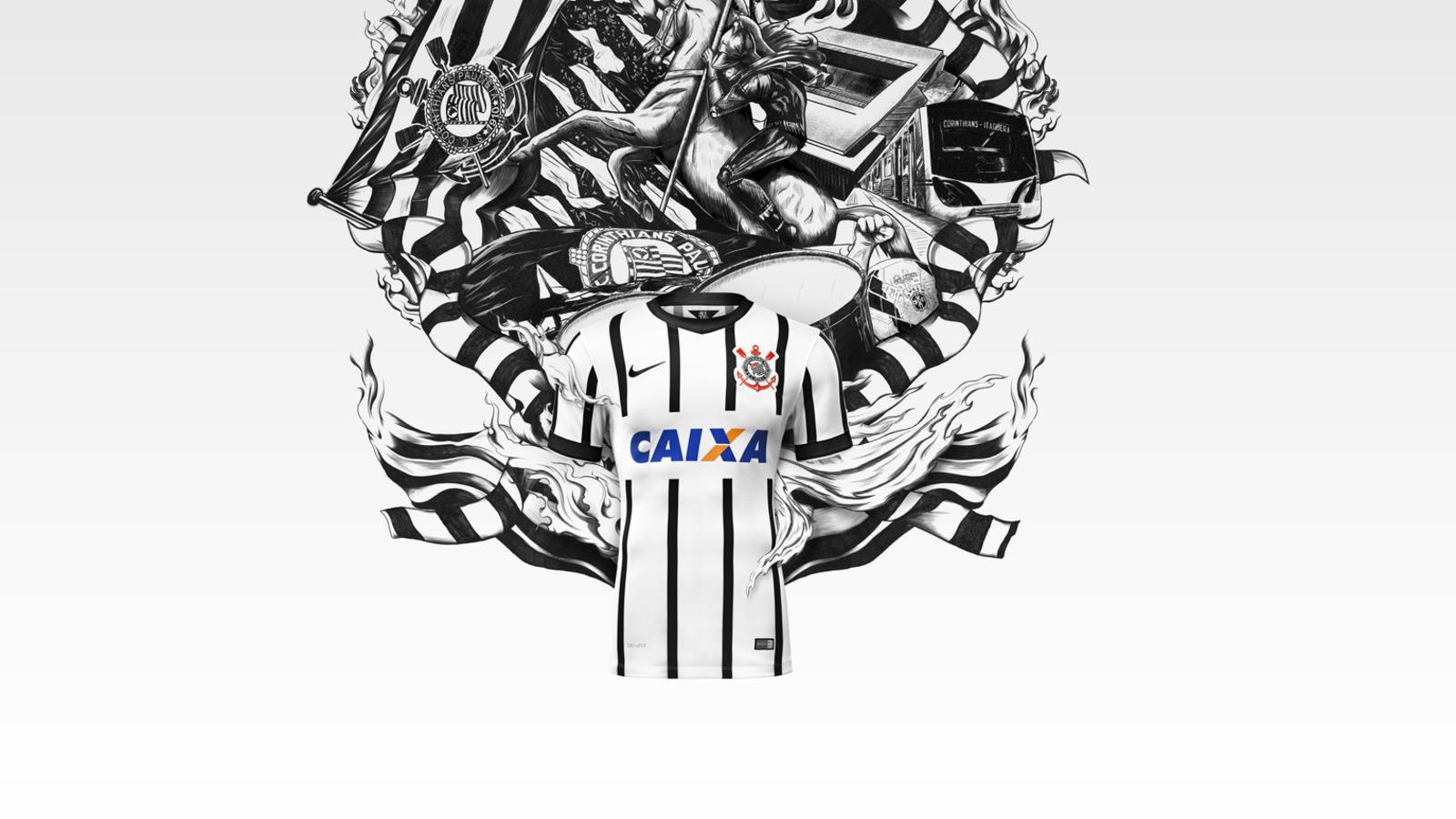 Década de 70 Inspira Novos Uniformes do Timão Criados pela Nike ... cc44491fa4a