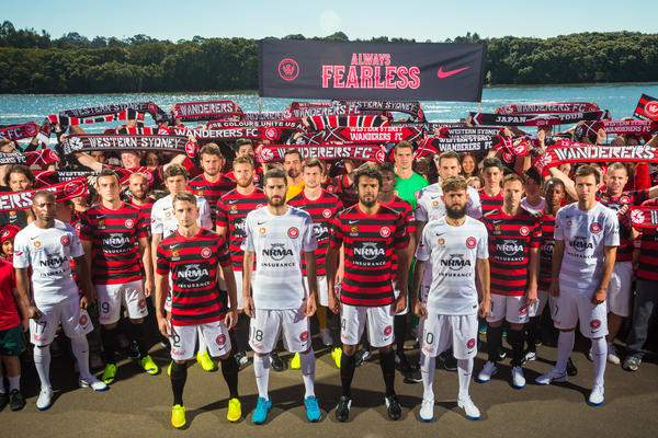 Western Sydney Wanderers and Nike Unveil New Home and Away Kits for 2014-15 Season