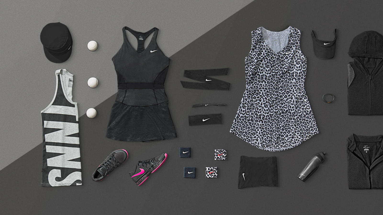 Nike Tennis NYC Night Look - Maria & Serena