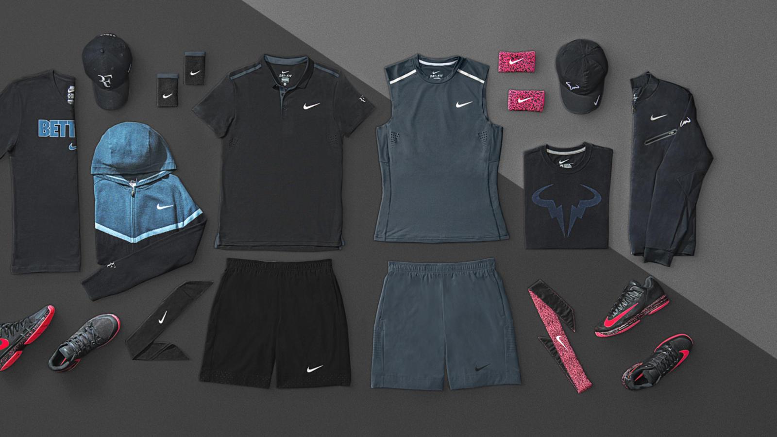 Nike Tennis NYC Night Look - Roger & Rafa