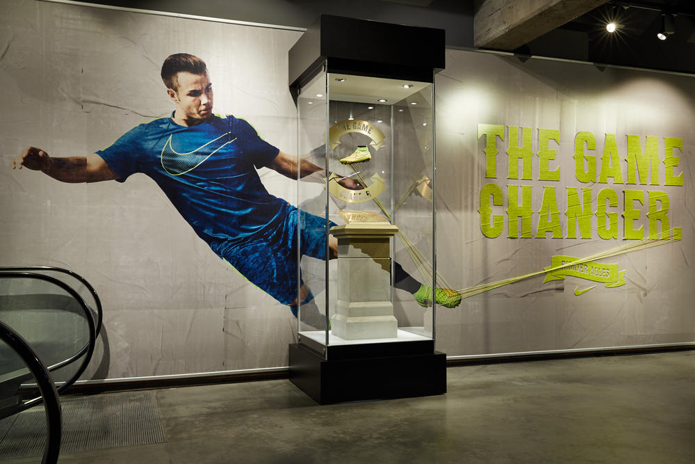 Mario Götze's Historic Magista Boot on display at Nike Berlin