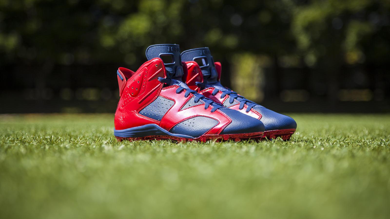 check out 4afe3 bcb39 ... Jordan Brand Football Athletes Don Air Jordan VI Cleats to Start the  Season - Nike News ...