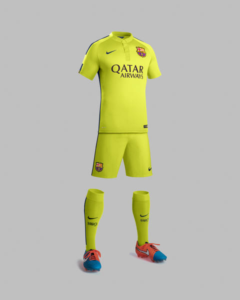 Nike and fc barcelona unveil new third kit for the 2014 15 season nike news - The body shop barcelona ...