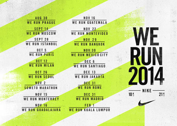 Nike Kicks Off Global We Run Series Inspiring Athletes to Achieve their Personal Best