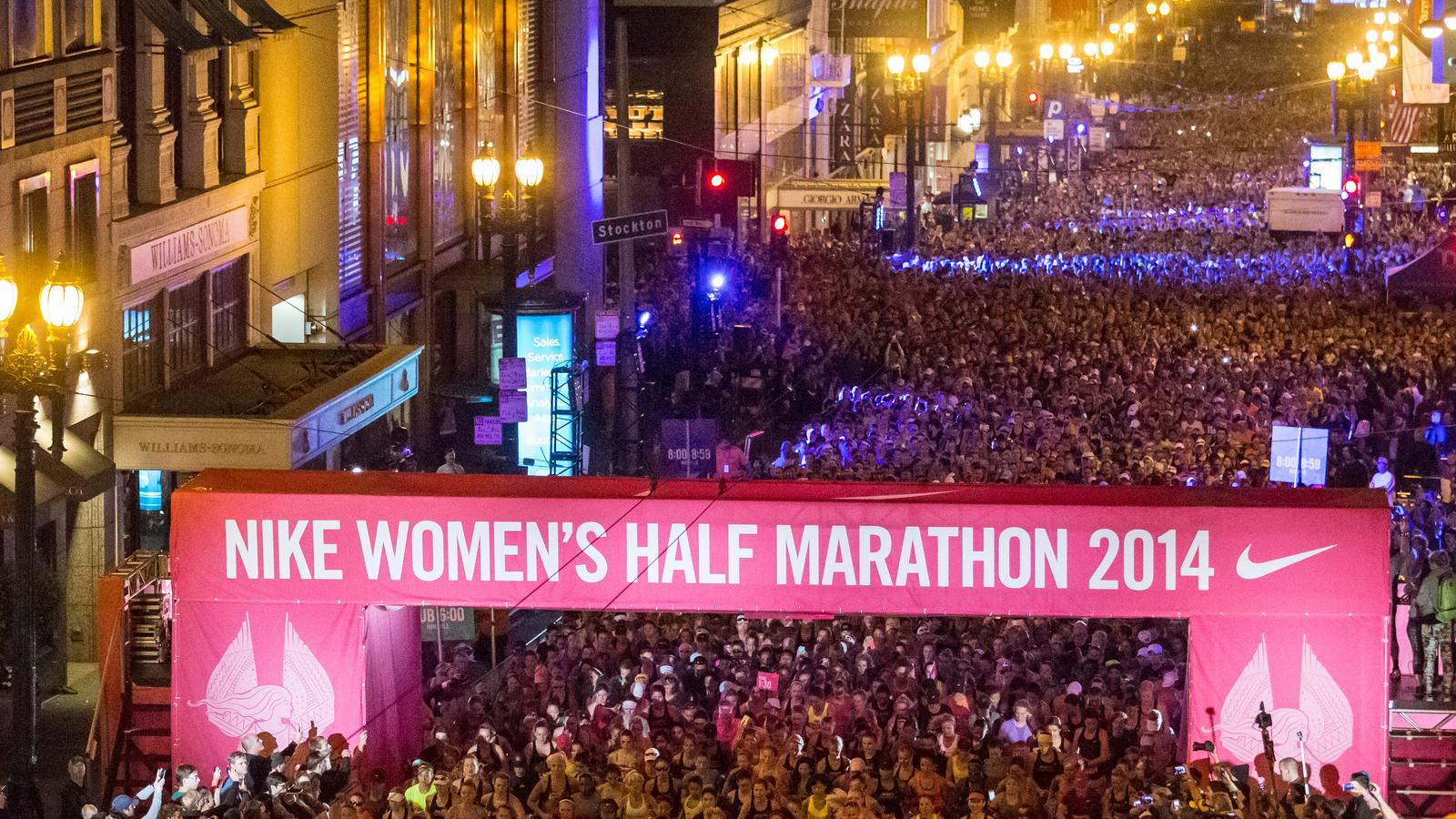 3a4eb240f Nike Women's Half Marathon Celebrates 25,000 Runners in San ...