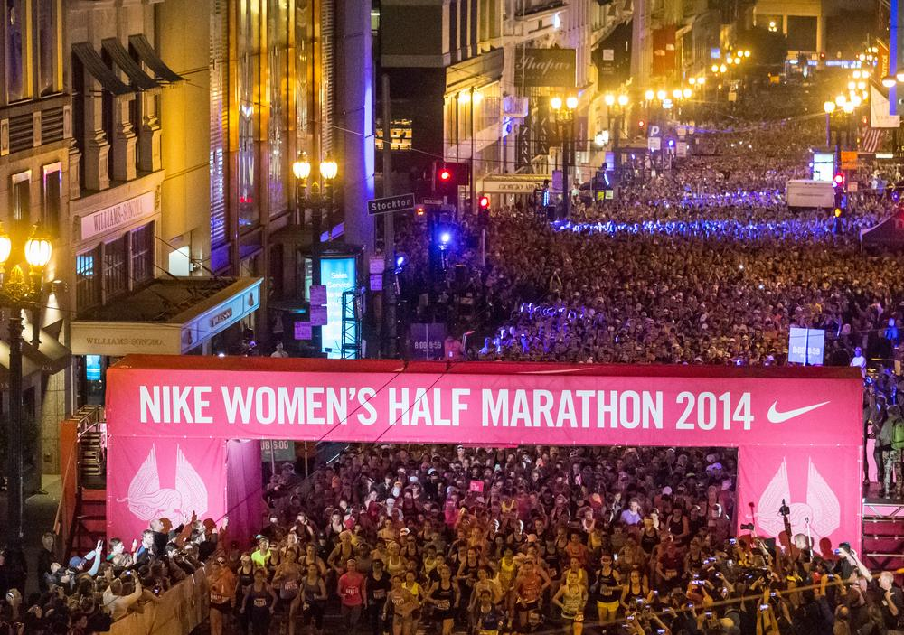 Nike Women's Half Marathon Celebrates 25,000 Runners in San Francisco