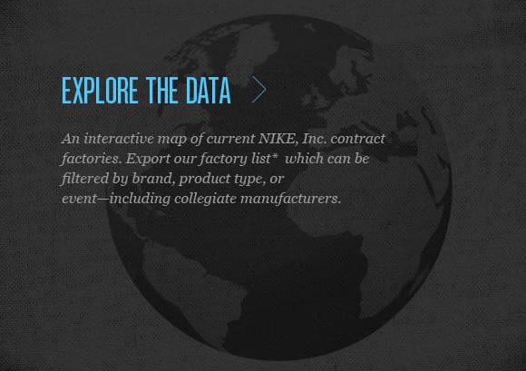 Nike Manufacturing Map
