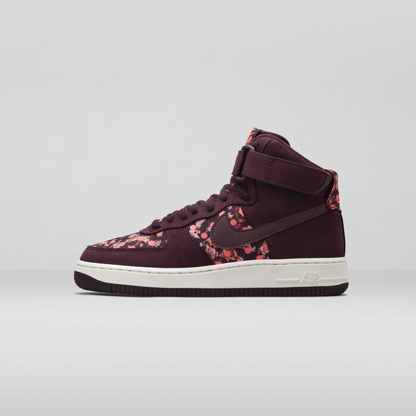 Nike%20x%20 Liberty%20 Air Force 1 Burgandy