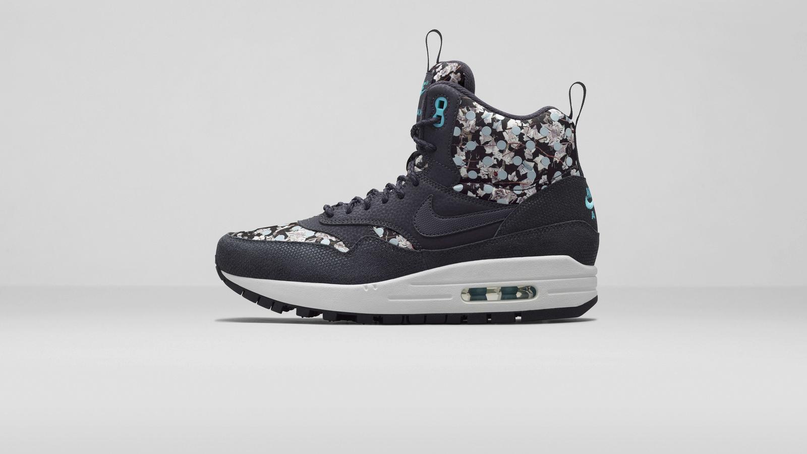 Nike%20x%20 Liberty%20 Air Max 1 Sneakerboot Dark Ash