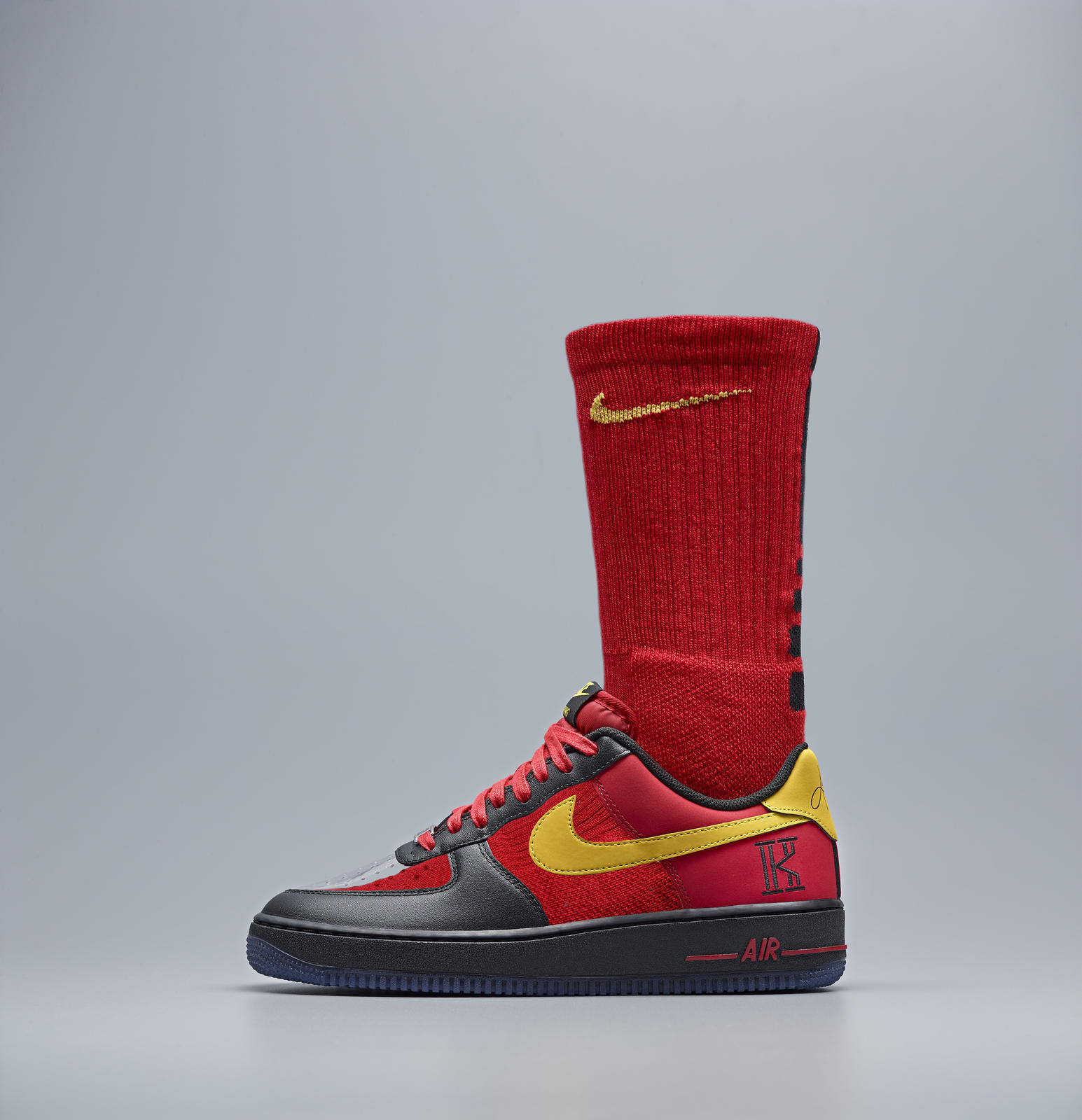 new products ddc95 5b286 Nike Kyrie AF1 RED BLK LAT SOCK. Nike Kyrie AF1 SLV BLU LAT SOCK