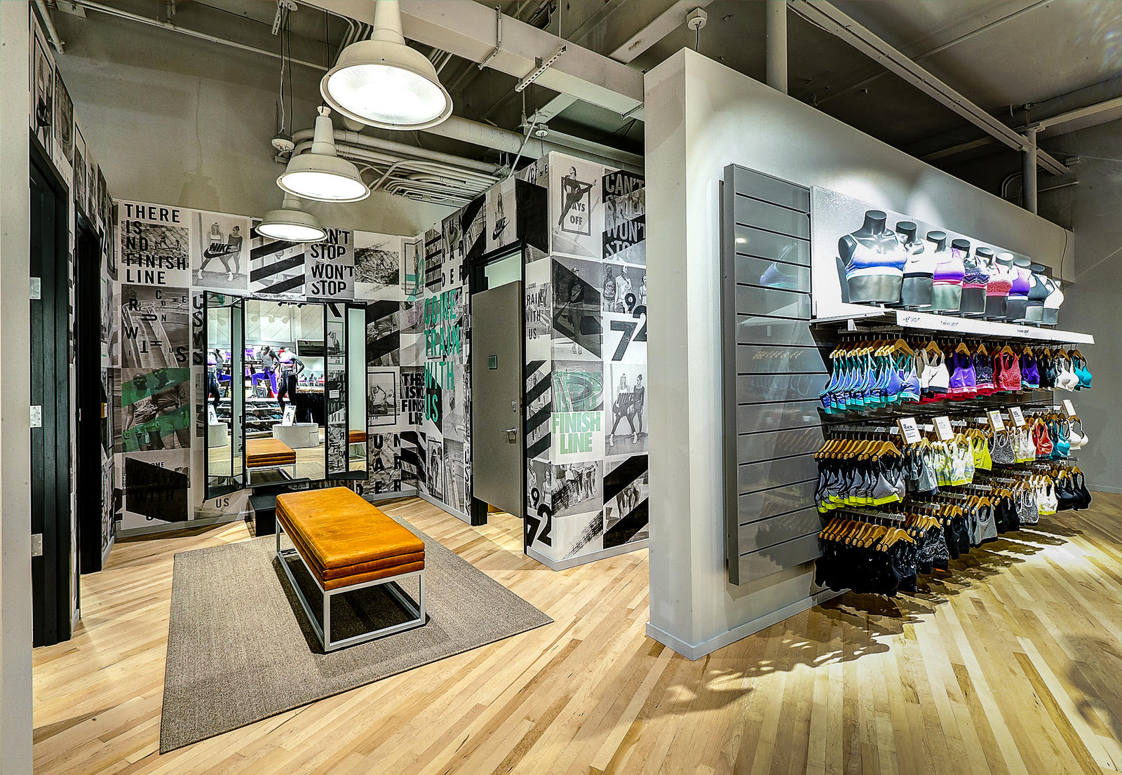 nike women�sonly store with fitness studio opens in