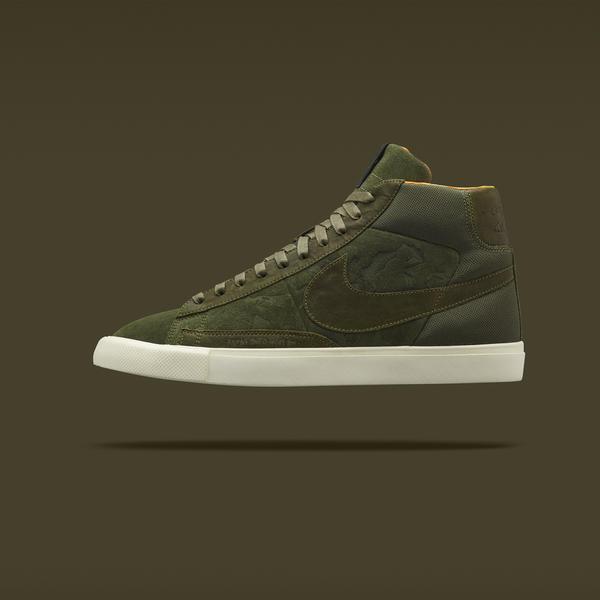 Nike X Mo'Wax Blazer Hi in Olive