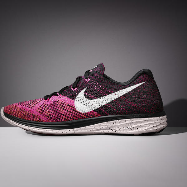 The Nike Flyknit Lunar 3 will be available beginning Feb. 12, 2015 in six  different colors for women.