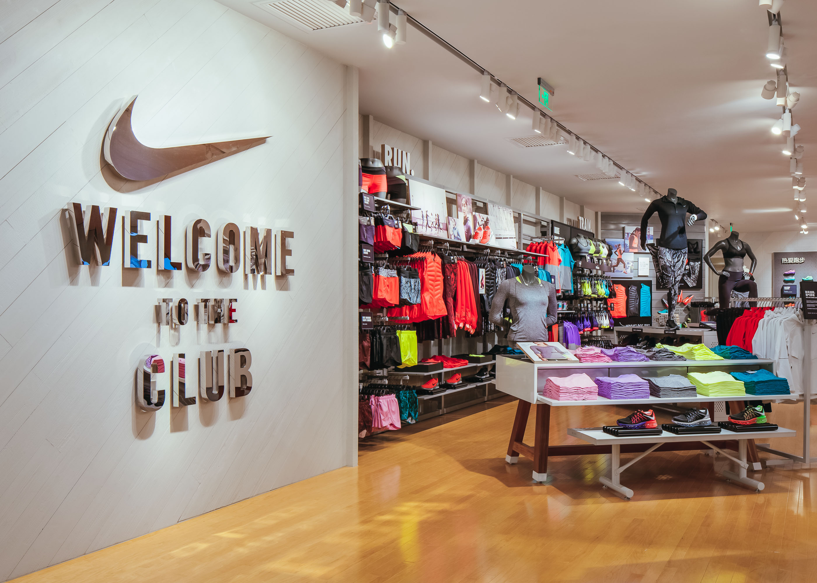 nike women s only store with premium on site sports experience opens in shanghai nike news. Black Bedroom Furniture Sets. Home Design Ideas