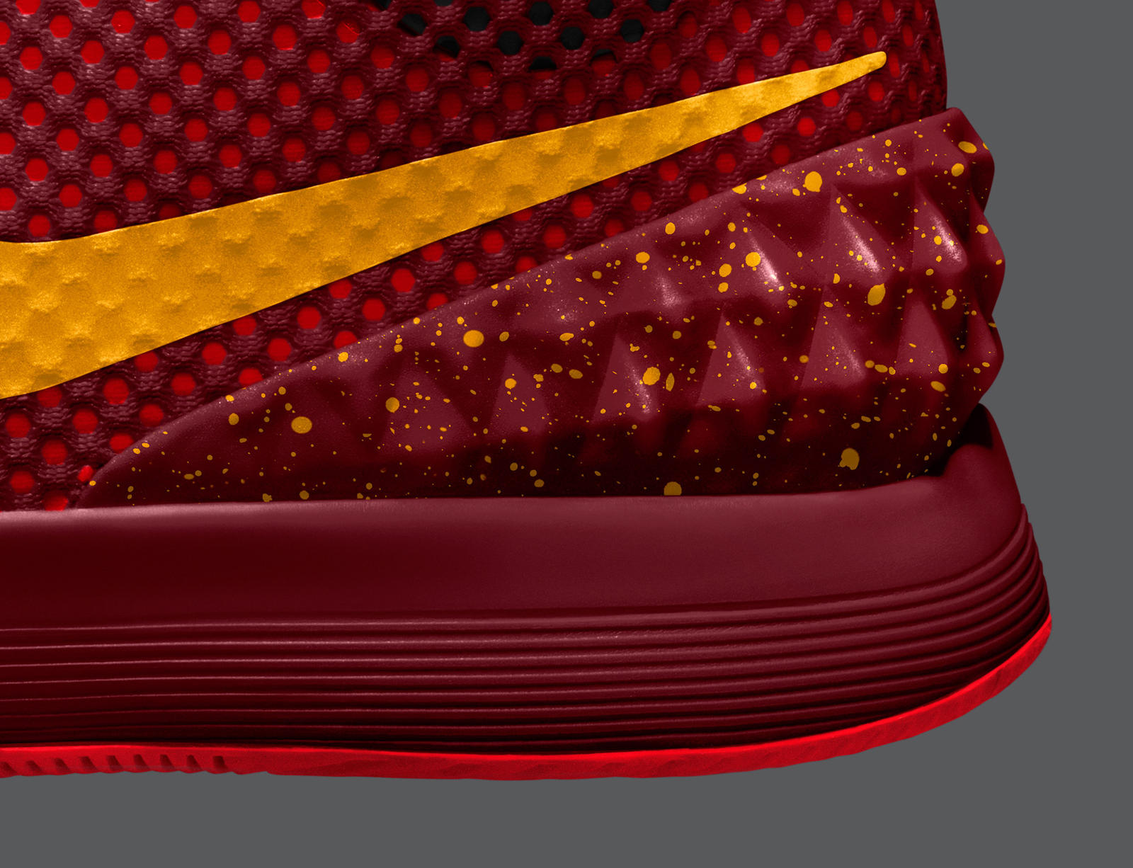 74e5bd5d2888 Sp15 NikeiD Kyrie 1 2048x1570 Detail 1. KYRIE 1 NIKEiD speckle graphic on  the heel. Irving will ...