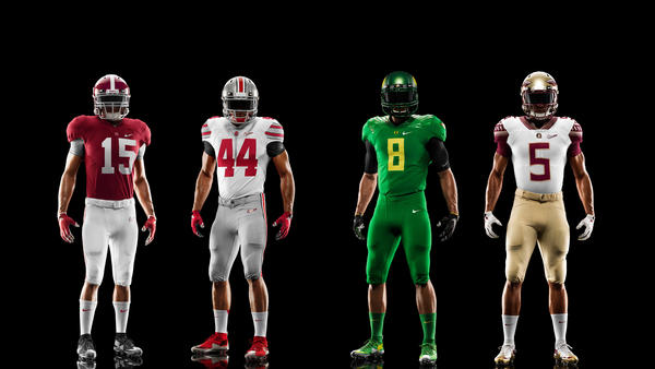 Nike Reveals College Football Playoff Uniforms To Be Worn