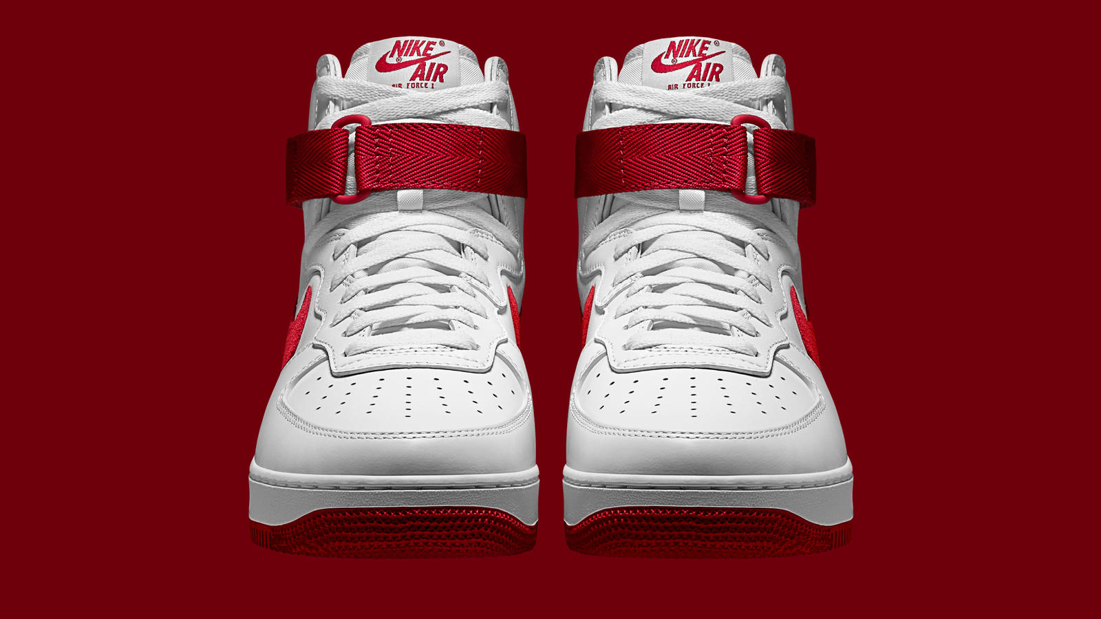 cheap for discount 58846 11723 nike air force 1 high top white and red