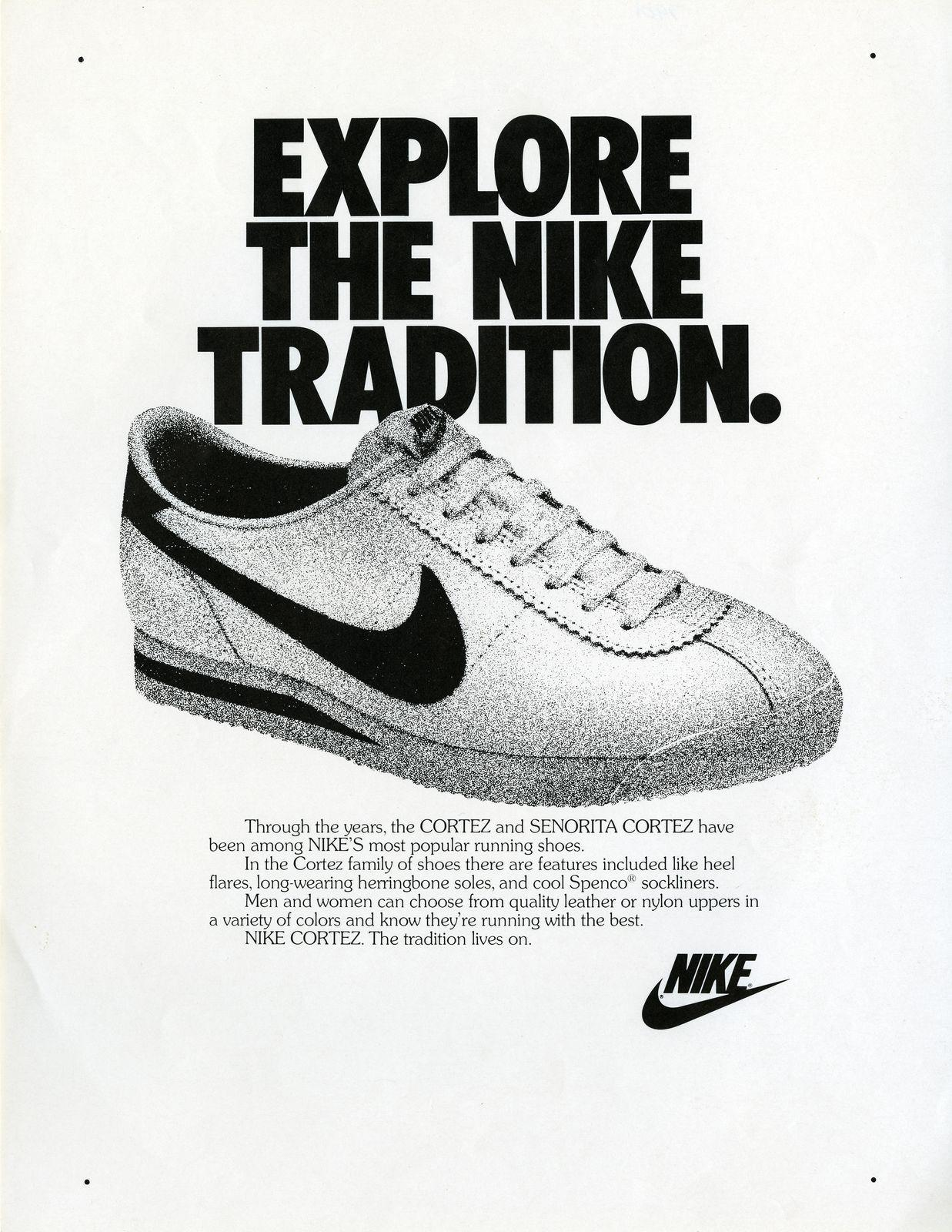 finest selection ebf64 36441 Nike Cortez Tradition ad 1977