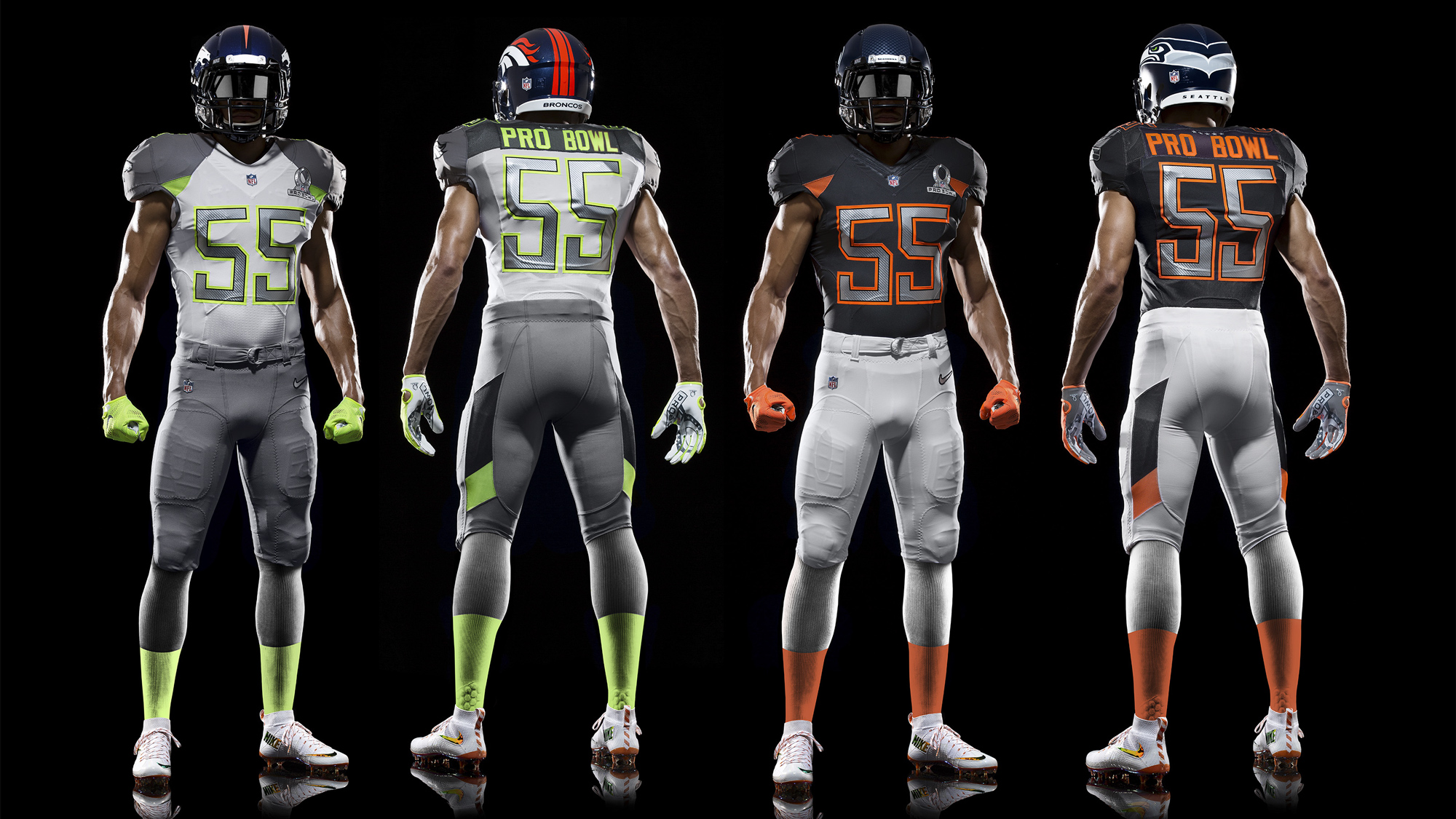 Eagles Black Jersey Green Pants >> Nike NFL Pro Bowl Uniforms Bring Fantasy Football Format to Life - Nike News