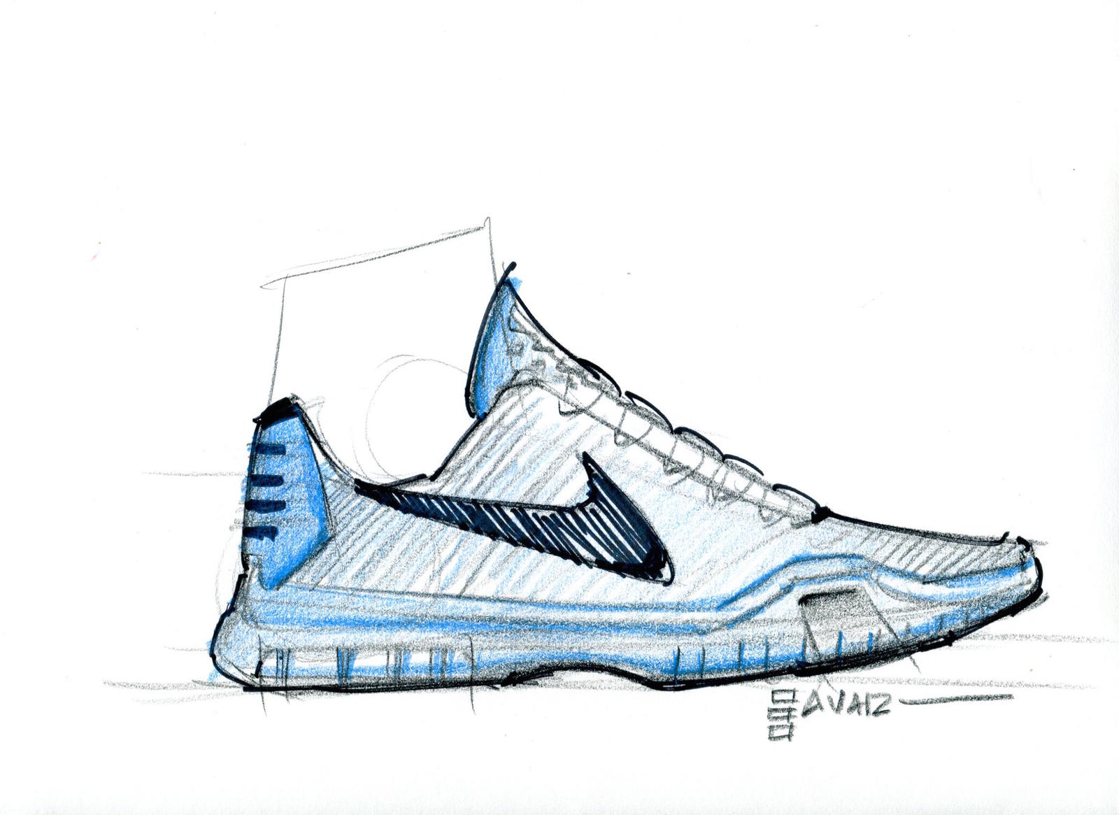 Designer Eric Avar's sketch of the KOBE X.