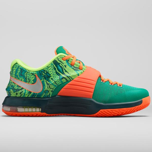 469be3affc0e Kevin Durant s fascination with meteorology comes alive in the Nike KD7 Weatherman  shoe. This new colorway of Durant s seventh signature shoe features a ...