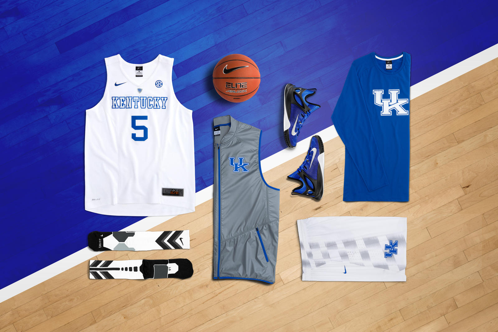Nike Hyper Elite Kentucky laydown