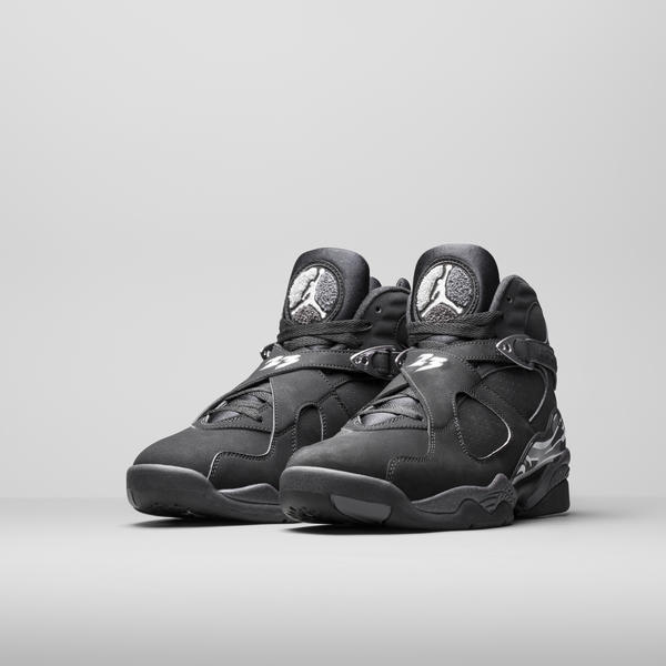 "Air Jordan VIII ""Black and Chrome"""