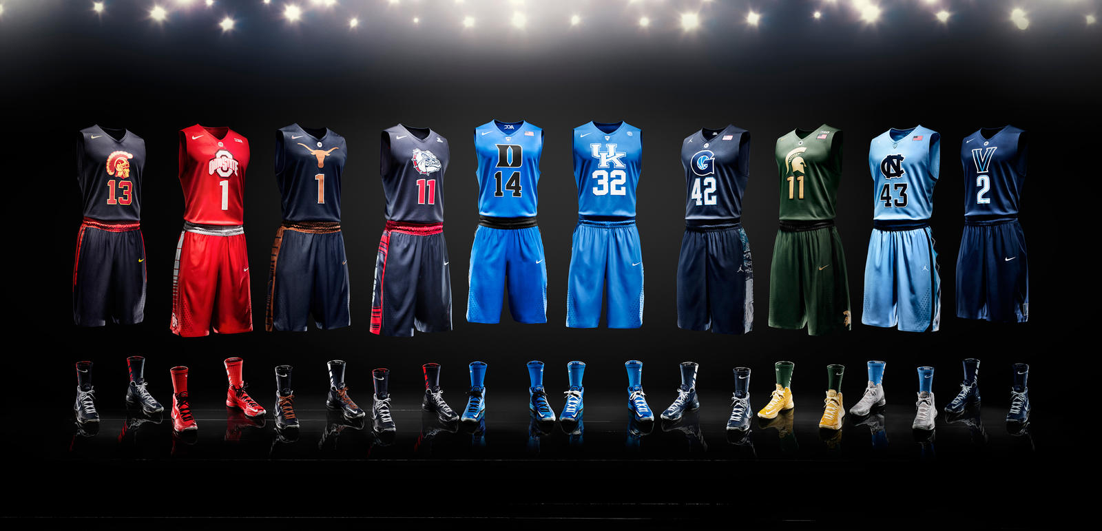 Nike Celebrates 25 Years Of Uniform Innovations on north carolina college uniforms