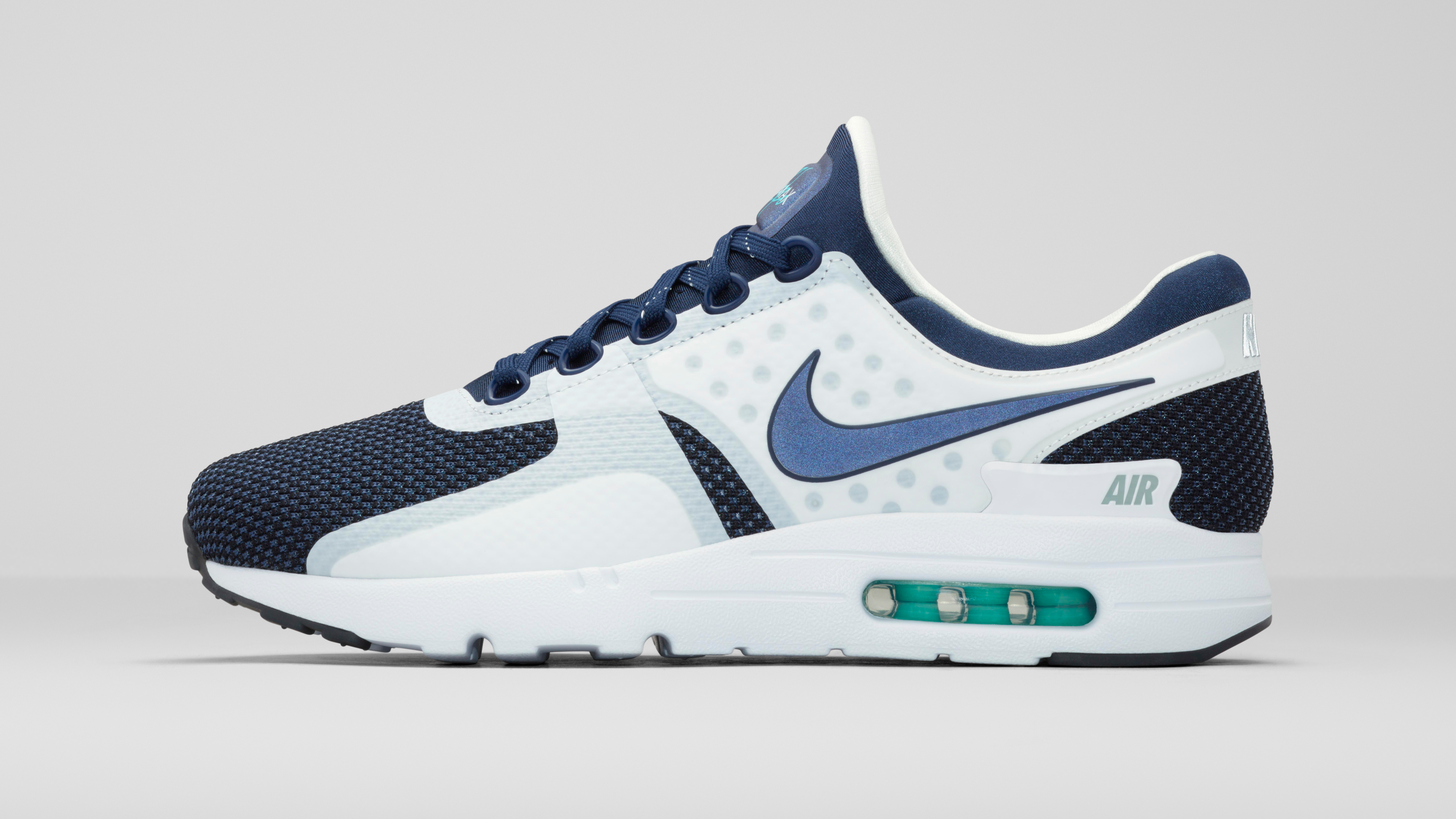 Nike Air Max Zero 87 II Deep Blue White Shoes For Kid