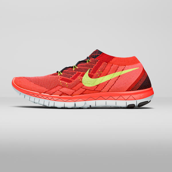 Nike Free 3 0 Flyknit Coureurs Rouges
