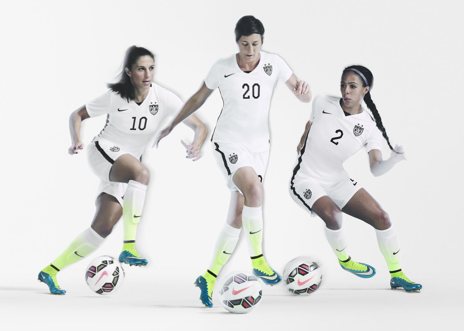 Striking U.S. Women s National Team Home Kit and Footwear Collection ... 6e6e4b5fb3