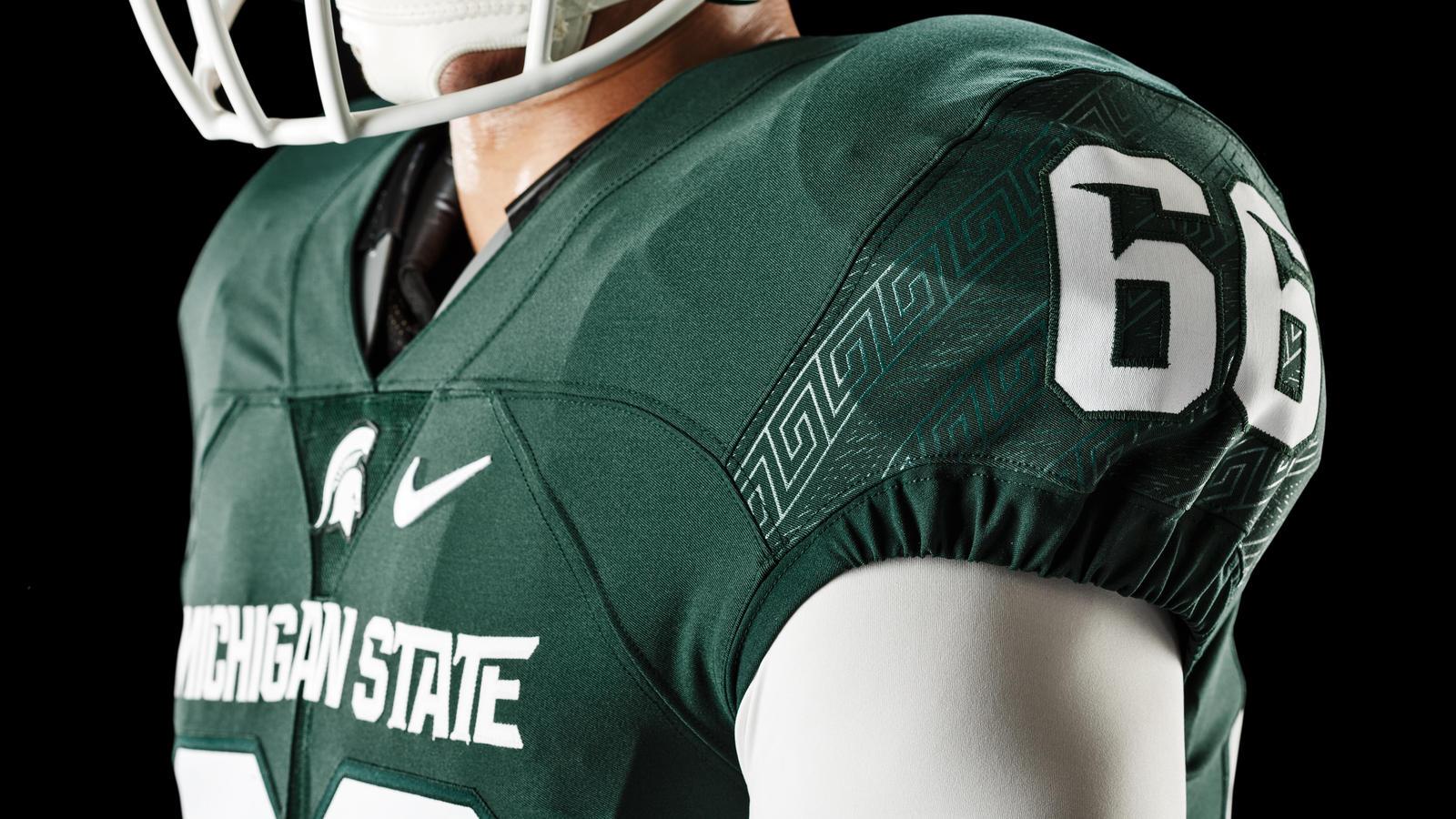 Michigan State Football Updates Nike Uniform Design - Nike