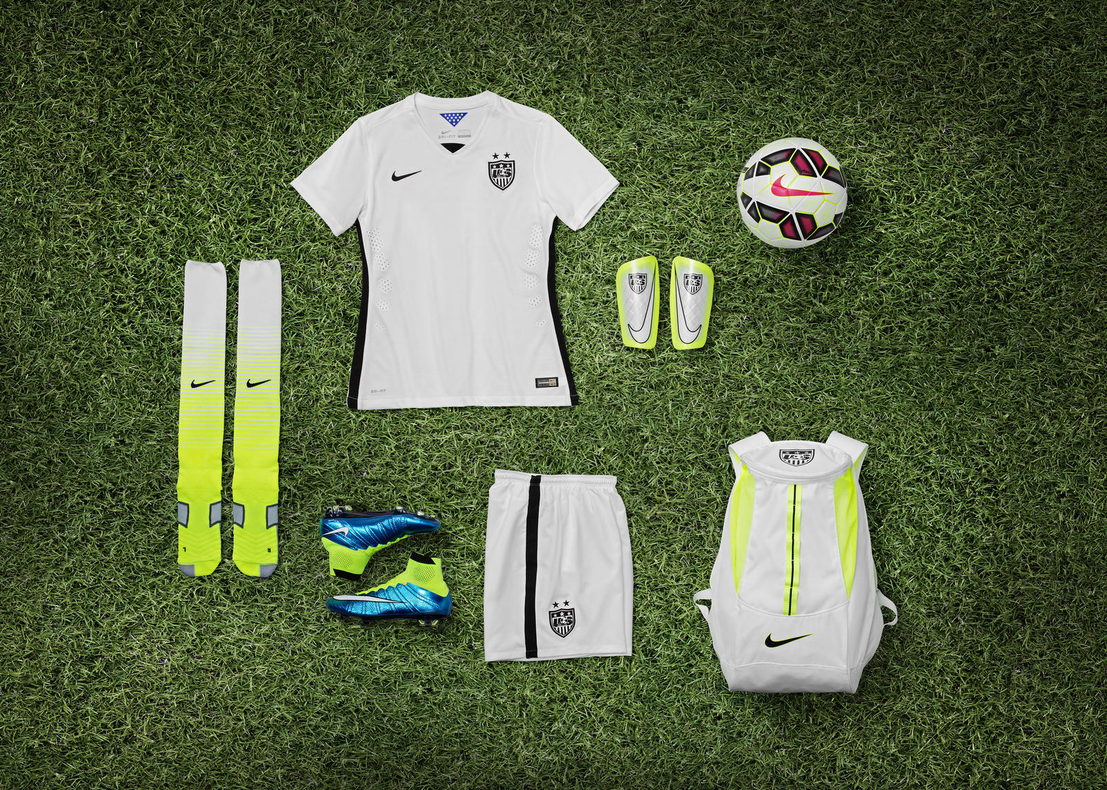 552b10279 Striking U.S. Women s National Team Home Kit and Footwear Collection ...
