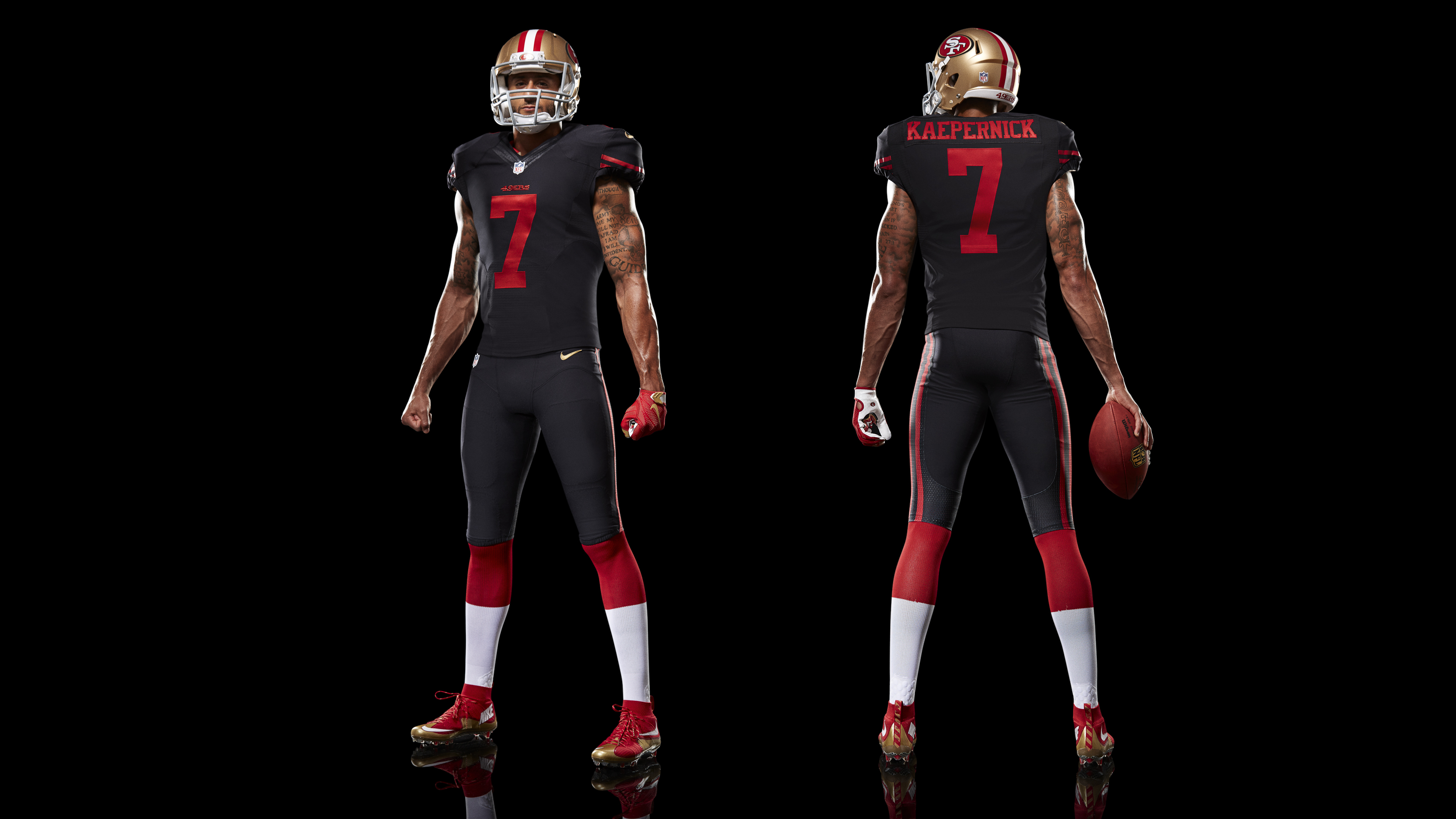 f388d609a03 ... Colin Kaepernick Limited Gray Gridiron NFL Jersey For Sale All Black  Everything The San Francisco 49ers New Alternate . Nike ...