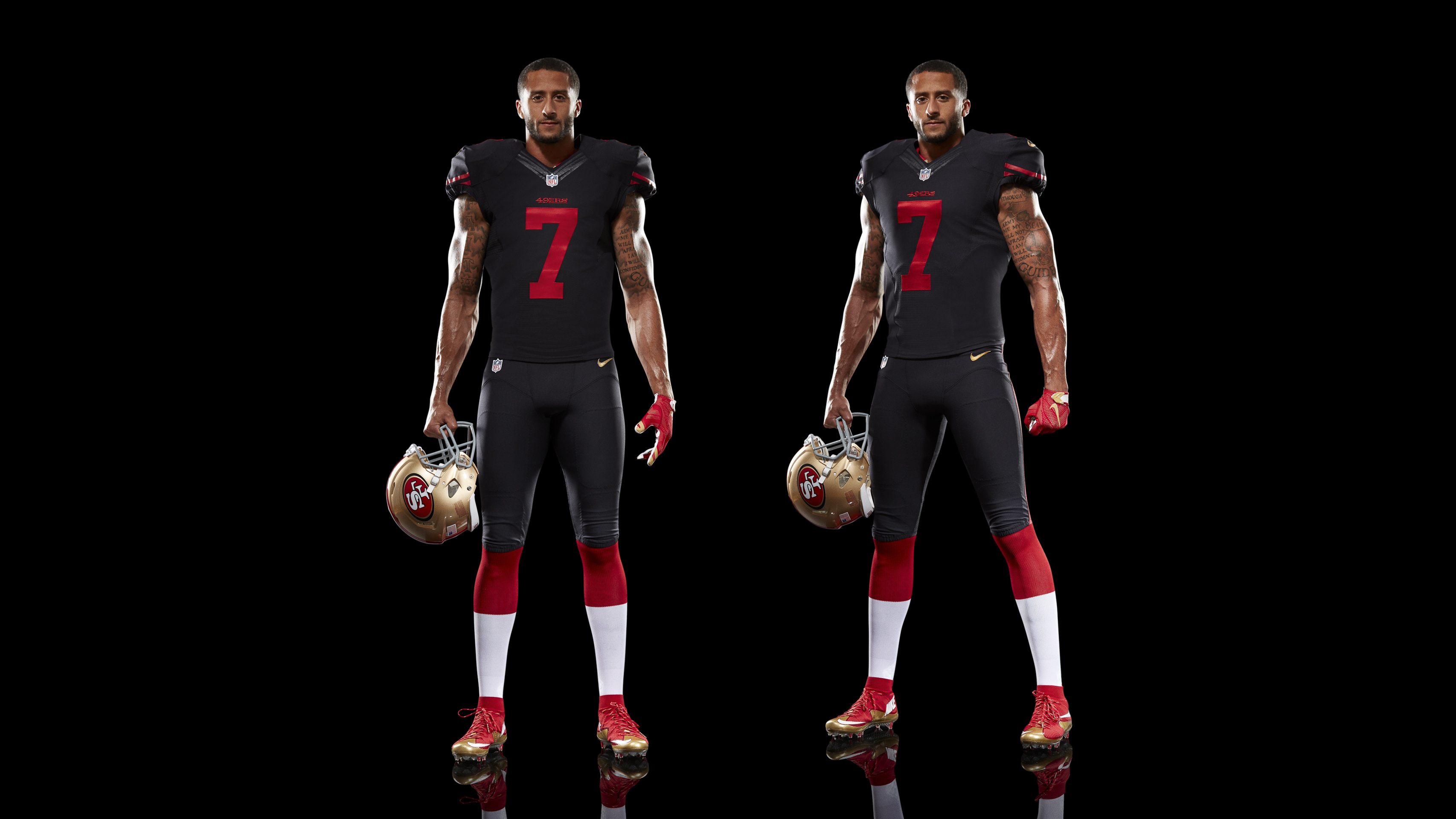black red 49ers jersey
