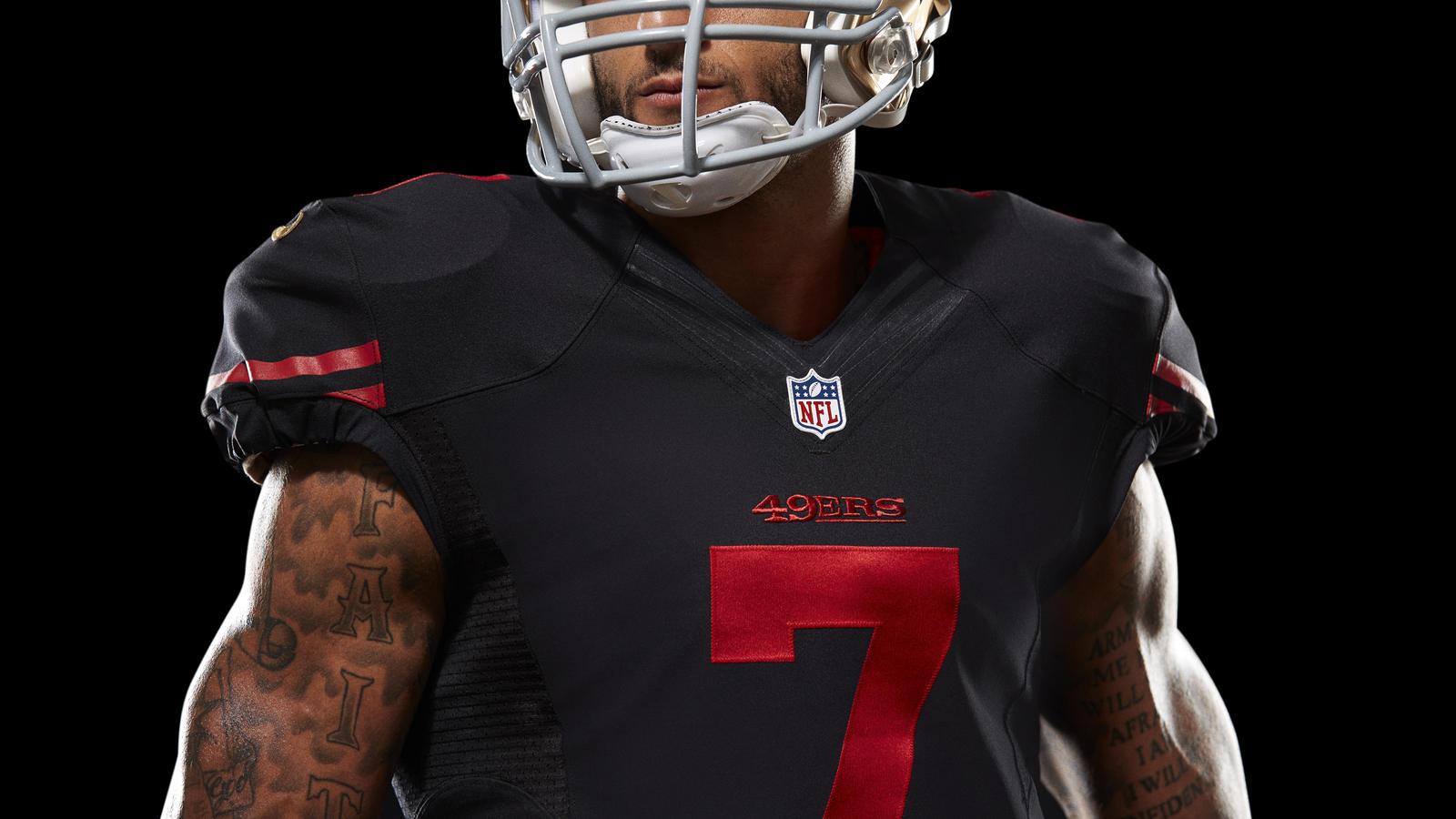 4d9d374dc8f Mobile Gallery Image ... ... Nike NFL San Francisco 49ers 7 Colin Kaepernick  White Man Stitched Elite Jersey Nike3510440 Mens ...