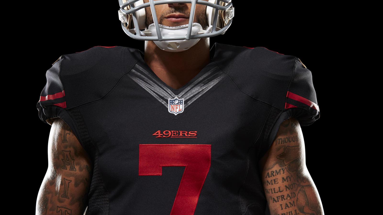 reputable site bb581 6dcb2 nike 49ers black jersey