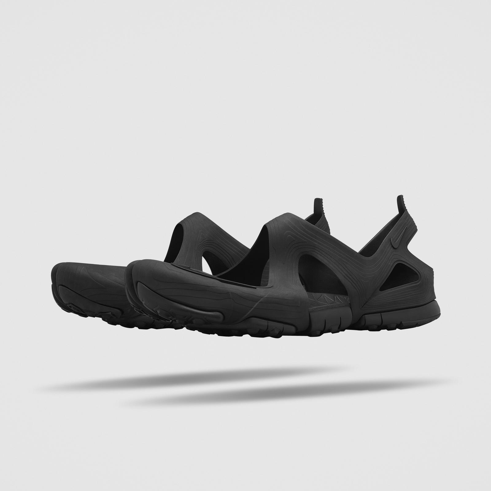 Hommes Nike Sandales Rift Libre Noir